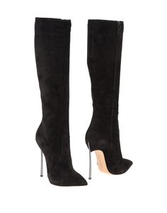 Casadei High Heeled Boots in Black | Lyst