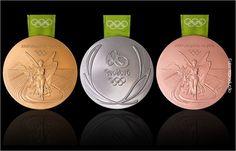 Confira as medalhas da Olimpíada Rio 2016 (Foto: Reprodução )