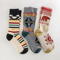 Cozy up with these adorable Pendleton socks. Warm and soft and oh so stylish! Fall Socks, Cozy Socks, Winter Socks, Gifts For Young Women, Clothes For Women, Pendleton Clothing, Luxury Christmas Gifts, Fashion Socks, Sock Shoes