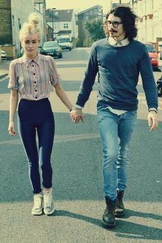 Cute couple, i like her shirt
