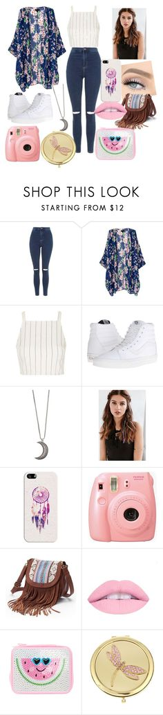 """Untitled #1"" by samiramiranda ❤ liked on Polyvore featuring Topshop, Vans, Gypsy Warrior, REGALROSE, GET LOST, Casetify, Fujifilm, Mudd and Monet"