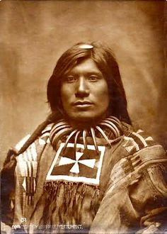 Scorched Lightning (Spotted Eagle's son?). Lakota Sioux. Photo by L.A. Huffman. Late 1800s.