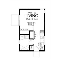 Basement entry leading from the driveway. Maybe just increase the size of the living area by feet Tiny House Plans, House Floor Plans, Shed To Tiny House, Micro House, Studio Apartment Layout, Small Apartment Layout, Studio Apartment Floor Plans, Tiny Studio Apartments, Apartment Plans