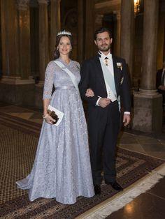 Principe Carlos Felipe de Suecia y su esposa Sofia Kristina Hellqvist. Nobel 2015