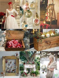 #Vintage #Christmas #Wedding Ideas Mood Board from The Wedding Community