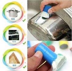 Hot Sale Magic Stainless Steel Rod Magic Stick Metal Rust Remover Cleaning Brush Useful Kitchen Clean Tools H0124