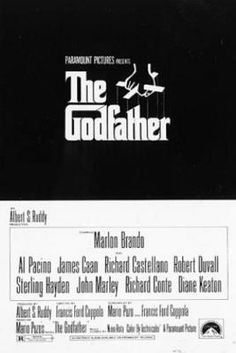 View this item and discover similar for sale at - Original vintage film poster for the movie classic by Mario Puzo and Francis Ford Coppola, The Godfather, starring Marlon Brando, Al Pacino and James Caan. Iconic Movie Posters, Original Movie Posters, Iconic Movies, Classic Movies, 1970s Movies, Oscar Movies, Cult Movies, Watch Movies, Classic Tv