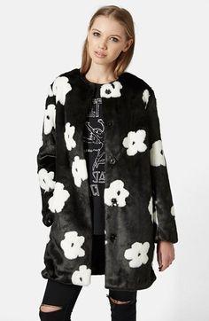 Topshop Faux Fur Daisy Coat   Nordstrom