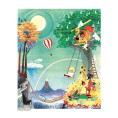 Moomin poster - The Rainbow House - The Official Moomin Shop  - 2