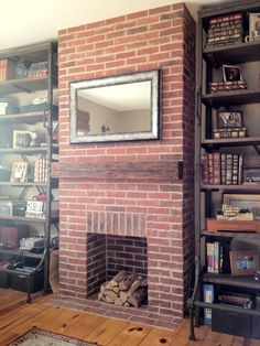 Real Thin Brick tiles are custom made to order. Our brick tiles can be used for brick flooring, brick wall veneer, and brick pavers. Real Thin Bricks are perfect for any home or commercial project. Brick Tiles, Brick Pavers, Brick Flooring, Brick Wallpaper Living Room, Brick Effect Wallpaper, Fireplace Doors, Faux Fireplace, Fireplace Ideas, Fireplace Screens
