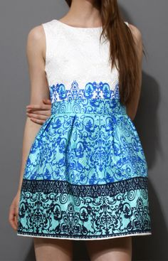 Baroque Embossed A-line Dress. LOVE this but a little longer (closer to knee length) please