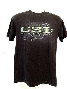 CSI Crime Scene Investigation  Black T-Shirt  Size Medium #CSI #GraphicTee