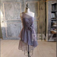 Gray Grey Bridesmaid Dress | $108 | Etsy | wedding ceremony reception bridesmaid maid of honor