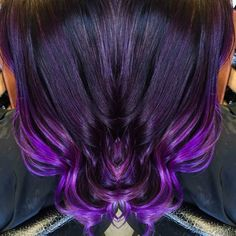 Violet ombre. Hair by Linda Bang