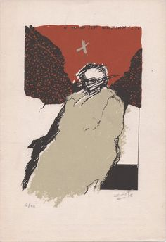 """I just love this screen print by Hector Contte.  Its title is """"El ayer"""" (Yesteryear or Bygone Days).  SOLD"""