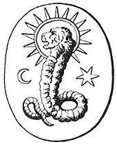A lion-faced deity found on a Gnostic gem in Bernard de Montfaucon's L'antiquité… Creation Myth, Occult Art, Occult Books, Gem Show, Religious Studies, Zodiac Symbols, Ancient Mysteries, Sumerian, Archetypes