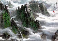 (North Korea) Mt Geumgang by Myeong Si-hwan (1947-  ).