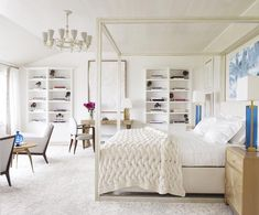 Raise your hand if you'd be down for a beachfront bedroom This Long Island sanctuary merges a light palette of whites, steel blues, and greys with soft and cozy materials for ultimate sophistication and serenity Stunning work by @cullmankravis #kathykuohome #interiordesign #bedroomgoals #homedecor #homedecorating #coastal #lightandbright #dreamy