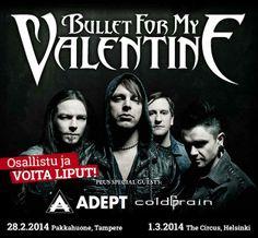 Bullet For My Valentine -kisa starttasi! Helsingin keikka on jo loppuunmyyty, mutta voit vielä päästä keikalle osallistumalla EMP:n kisaan! => http://emp.me/8cL