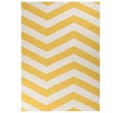 Poufs and Rugs – 20% off today only! Ends 6/27/13 at midnight ET - ZIG ZAG YELLOW RUG