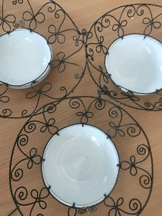 Decorative Plates, Wire, Metal, Home Decor, Wire Art, Wire Jig, Abstract Art, Board, Blue Prints