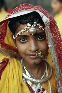 India | Portrait of a girl taken in Jaipur, Rajasthan | © Travel Pix collection
