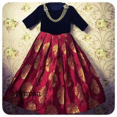 Dress for kids indian wedding 65 Ideas Kids Indian Wear, Kids Ethnic Wear, Indian Baby, Frocks For Girls, Little Girl Dresses, Girls Dresses, Baby Dresses, Kids Blouse Designs, Dress Designs