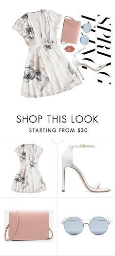 """""""spring"""" by edkth on Polyvore featuring Stuart Weitzman, For Art's Sake, Lime Crime and springdresses"""