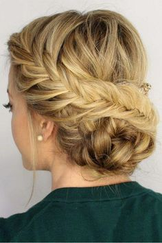 Top 60 All the Rage Looks with Long Box Braids - Hairstyles Trends Hairstyle Bridesmaid, Prom Hair Updo, Fishtail Updo, Braided Updo, French Fishtail, Lace Braid, French Braids, French Twists, Dutch Braids
