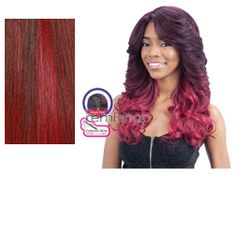 Equal (SNG) Lace Deep Invisible L Part Julianna  - Color OMBG - Synthetic (Curling Iron Safe) Invisible L-Part Lace Front Wig - Closed Invisible L-Part