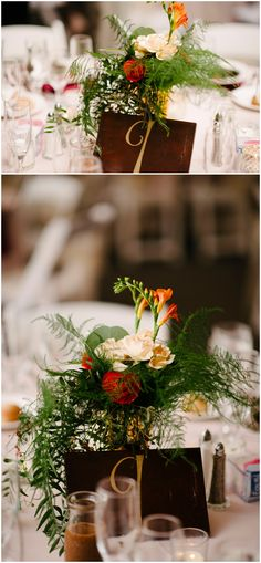 Fall floral centerpieces designed by Minneapolis wedding florist Artemisia Studios. Photo by Tiffany Bolk Photography (http://www.tiffanybolkphotography.com/). #tiffanybolkphotography #mnlandscapearboretum #fallfloral #fallwedding #wedding #mnwedding #centerpieces #fallcenterpieces #weddingdecor #minneapolisweddingflorist #minnesotaweddingflorist #artemisiastudios