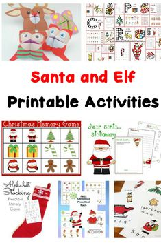 Santa and Elf Worksheets for Kids Help make Christmas time fun and educational with these Santa and Elf Worksheets for kids! Fun, free, AND educational! Great for Preschool/Kindergarten! Kindergarten Reading Activities, Preschool Education, Preschool Kindergarten, Craft Activities For Kids, Kindergarten Worksheets, Christmas Activities, Learning Activities, Teaching Ideas, Printable Preschool Worksheets