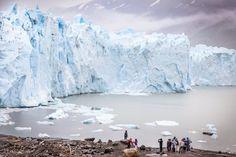 People foreground at Perito Merino Glacier
