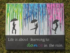Melted Crayon Art with Quote on Etsy, $34.31