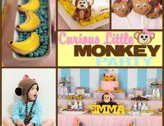 "monkey girl / Birthday ""Curious Emma's Monkey Party"" | Catch My Party"
