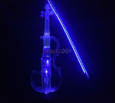 Full Transparent Crystal Acrylic Electric Violin with best LED light #SUNCA