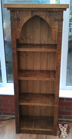 Rustic Bookcase with arch top by CatBearFurniture on Etsy, £225.00