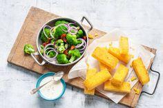 Gebakken polentablokjes met Parmezaanse kaas  - Recept - Allerhande