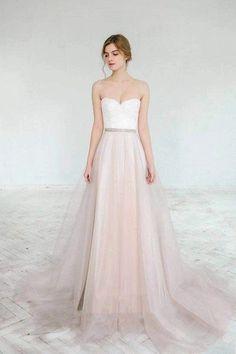 Ready to ship sample/ Blush wedding gown // Dahlia / Sweetheart corset wedding dress, lace bridal gown, blush tulle skirt, bridal separates - Wedding Gowns Platform Lace Bridal, Bridal Gowns, Wedding Gowns, Lace Wedding, Bridal Corset, Blush Bridal, White Bridal, Bridal Lehenga, Dream Wedding