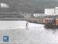 Shaolin Monk Sets World Record By Running Atop Water For 125 Meters [Video] - Shaolin monk Shi Liliang just set a new world record by running atop water for 125 meters. The event raised tuition money for poor children.