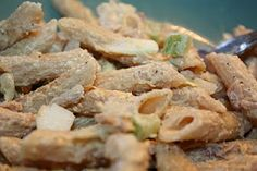 This is my favorite salad this time of year. Gary isn't a big fan, so I usually make a batch and eat it for lunch for two or three days. Chicken Pasta Recipes, Chicken Salads, Yummy Food, Yummy Recipes, Allrecipes, Pasta Salad, Potato Salad, Buffet, Lunch