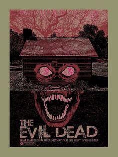 Alternative movie poster for Evil Dead by Chris Garofalo
