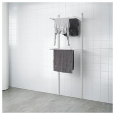 IKEA ALGOT wall upright/drying rack Can also be used in bathrooms and other damp areas indoors. Ikea Algot, Laundry Room Storage, Bathroom Storage, Bathroom Photos, Bathroom Ideas, Bathroom Vanities, Ikea Us, Closet System, Small Storage
