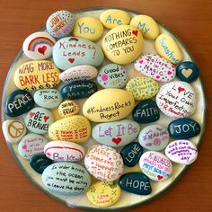 These are such cool DIY rocks! Just place them anywhere you go. When somebody finds one, think how happy they'll be!