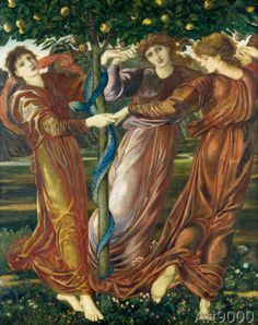 Sir Edward Burne-Jones - Der Garten der Hesperiden