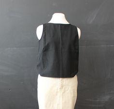 black wool holt renfrew tank s m by cheapopulance on Etsy, $25.00
