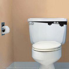 goblin in the toilet tank - Halloween decoration