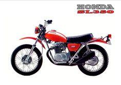 Old School Motorcycles, Honda Motorcycles, Cars And Motorcycles, Trail Motorcycle, Motorcycle Posters, Vintage Bikes, Vintage Motorcycles, Honda Dirt Bike, Cb350