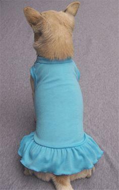 Nice Blue Dog Sundress