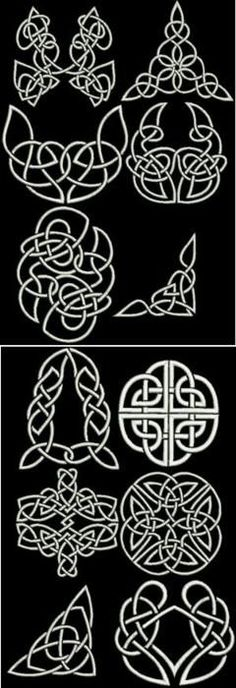Advanced Embroidery Designs - Celtic Motif Sets III and  IV